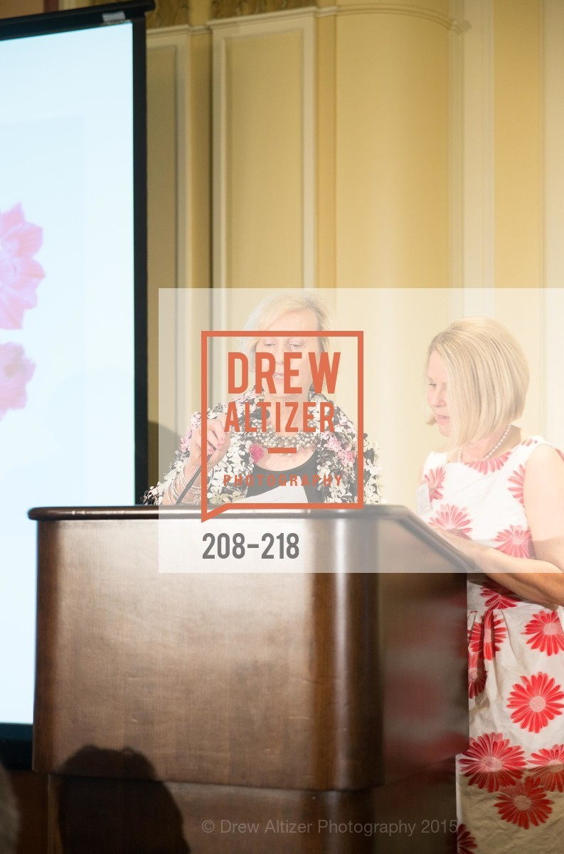 Judith Heuser, Leslie Bauer, Salvation Army Flower Power Luncheon, Sir Francis Drake Hotel. 450 Powell St, August 4th, 2015,Drew Altizer, Drew Altizer Photography, full-service agency, private events, San Francisco photographer, photographer california