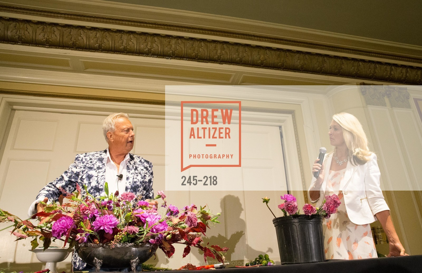 Juliet Goodrich, Ron Morgan, Salvation Army Flower Power Luncheon, Sir Francis Drake Hotel. 450 Powell St, August 4th, 2015,Drew Altizer, Drew Altizer Photography, full-service agency, private events, San Francisco photographer, photographer california