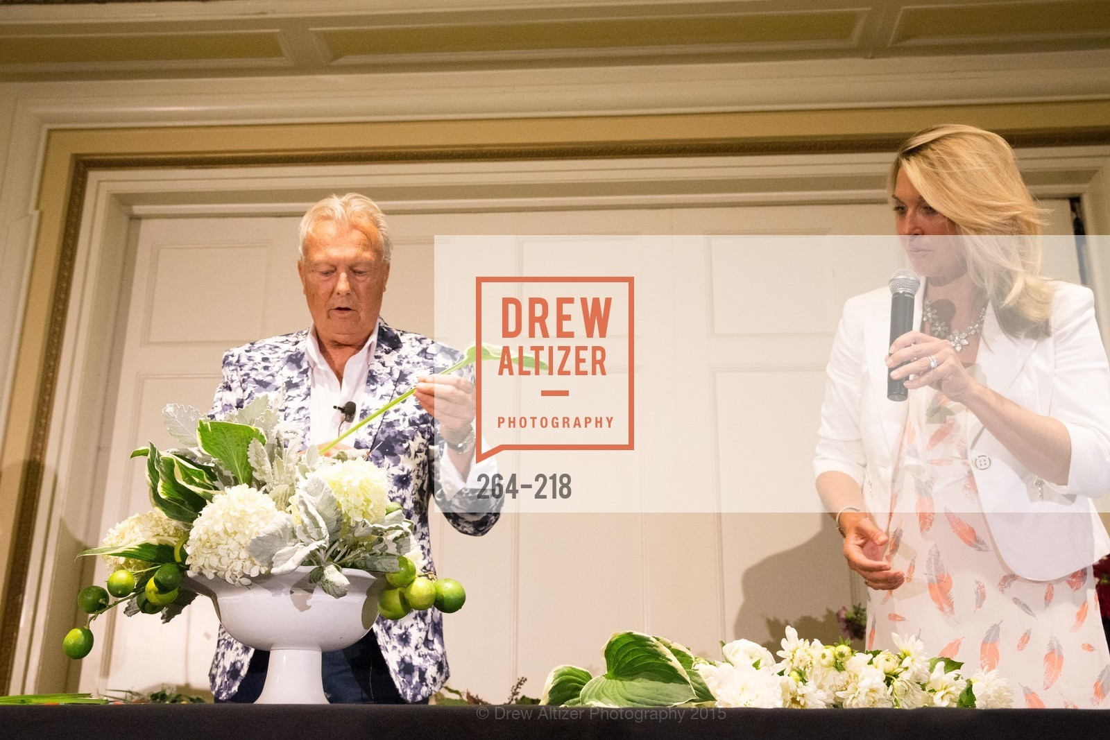 Ron Morgan, Juliet Goodrich, Salvation Army Flower Power Luncheon, Sir Francis Drake Hotel. 450 Powell St, August 4th, 2015,Drew Altizer, Drew Altizer Photography, full-service agency, private events, San Francisco photographer, photographer california