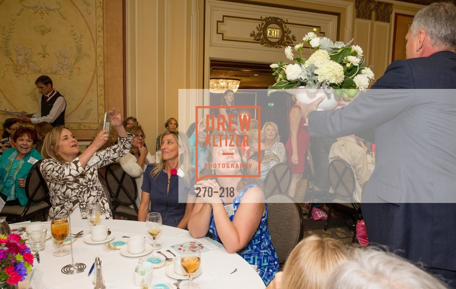 Lisa Syne, Debbie Kartinganer, Salvation Army Flower Power Luncheon, Sir Francis Drake Hotel. 450 Powell St, August 4th, 2015,Drew Altizer, Drew Altizer Photography, full-service agency, private events, San Francisco photographer, photographer california