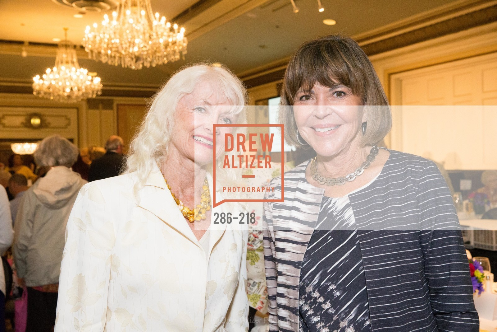 Andrea Valo Espina, Carolyn Alioto, Salvation Army Flower Power Luncheon, Sir Francis Drake Hotel. 450 Powell St, August 4th, 2015,Drew Altizer, Drew Altizer Photography, full-service agency, private events, San Francisco photographer, photographer california