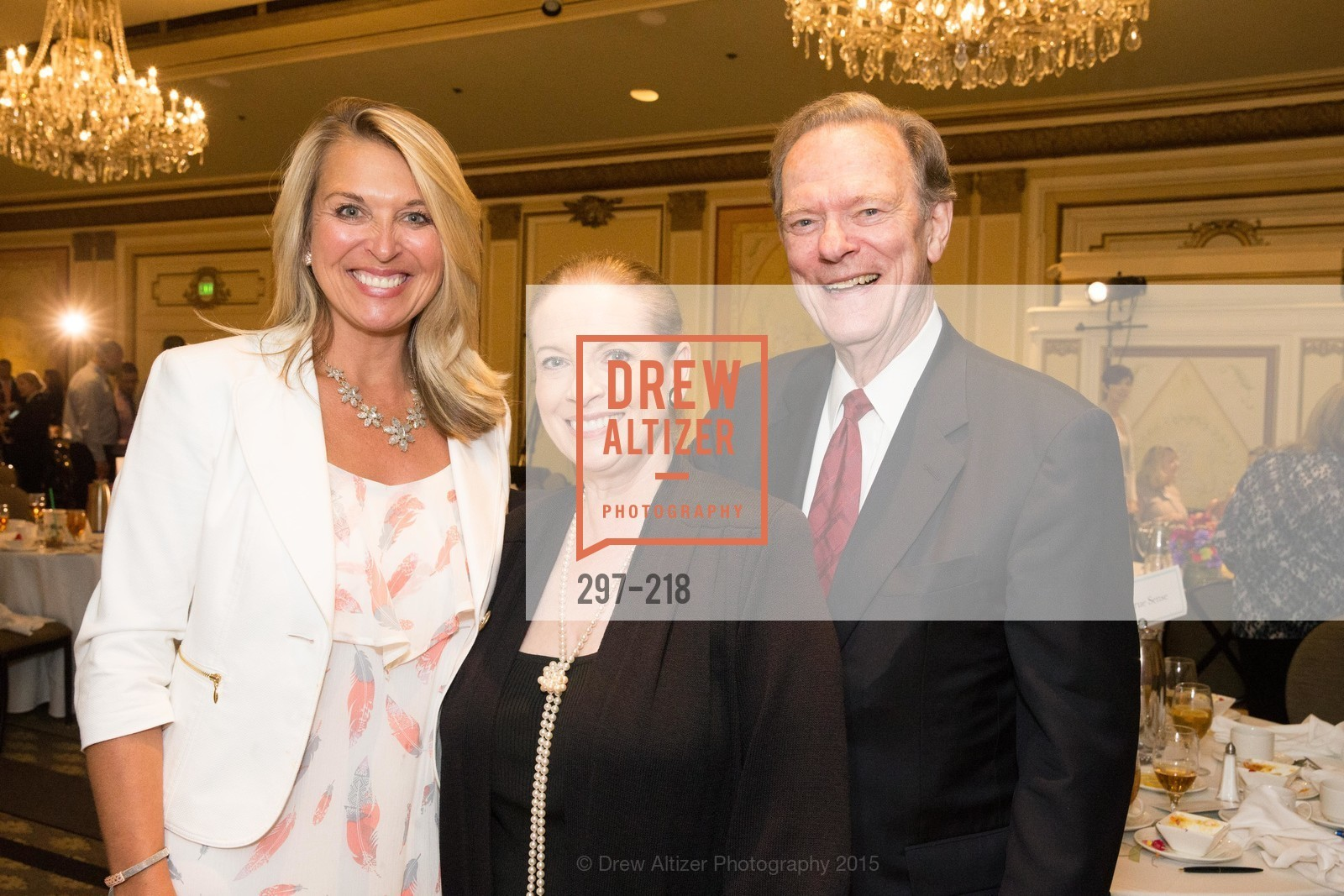 Juliet Goodrich, Terry Lowry, Fred LaCosse, Salvation Army Flower Power Luncheon, Sir Francis Drake Hotel. 450 Powell St, August 4th, 2015,Drew Altizer, Drew Altizer Photography, full-service agency, private events, San Francisco photographer, photographer california