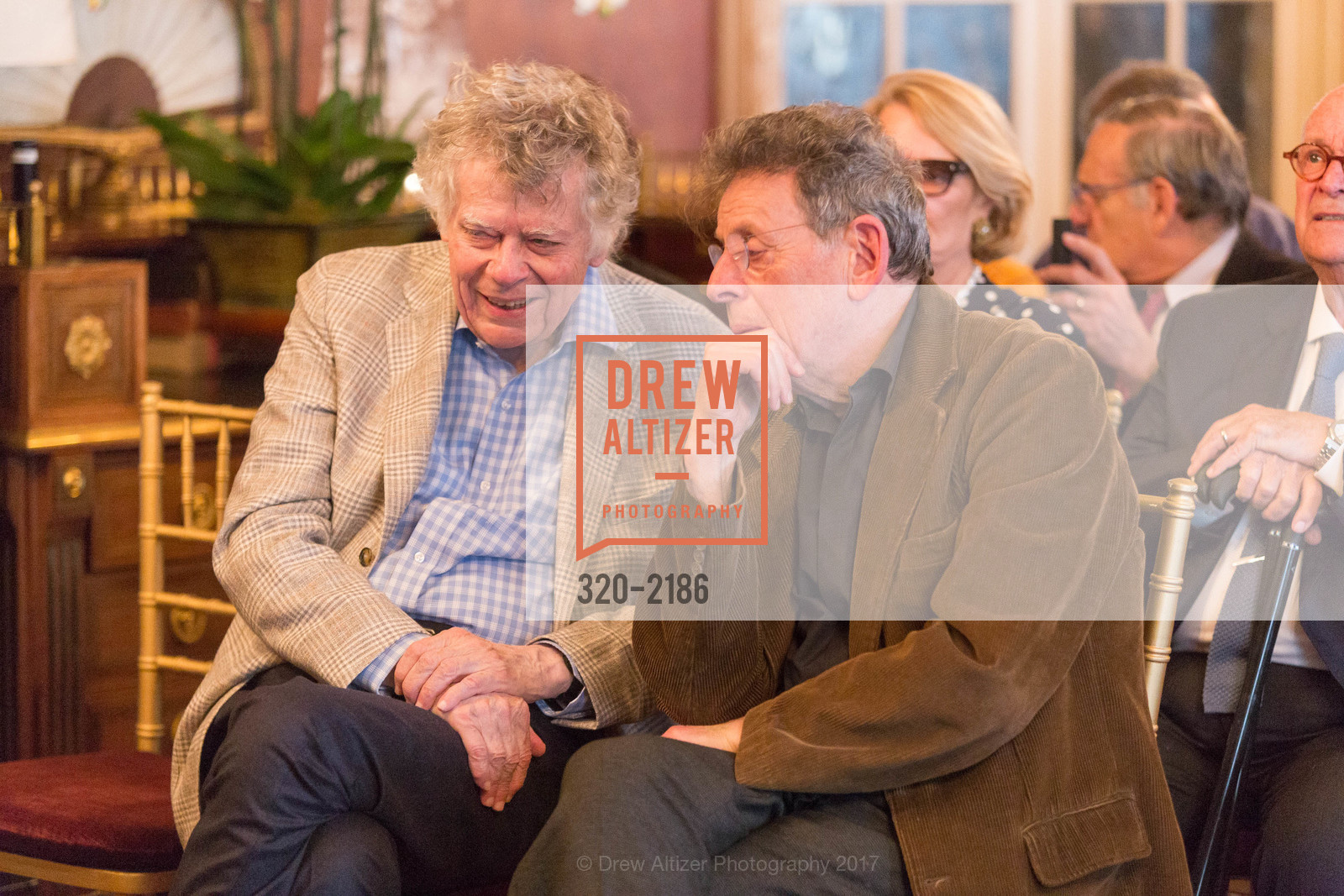Gordon Getty, Philip Glass, Photo #320-2186