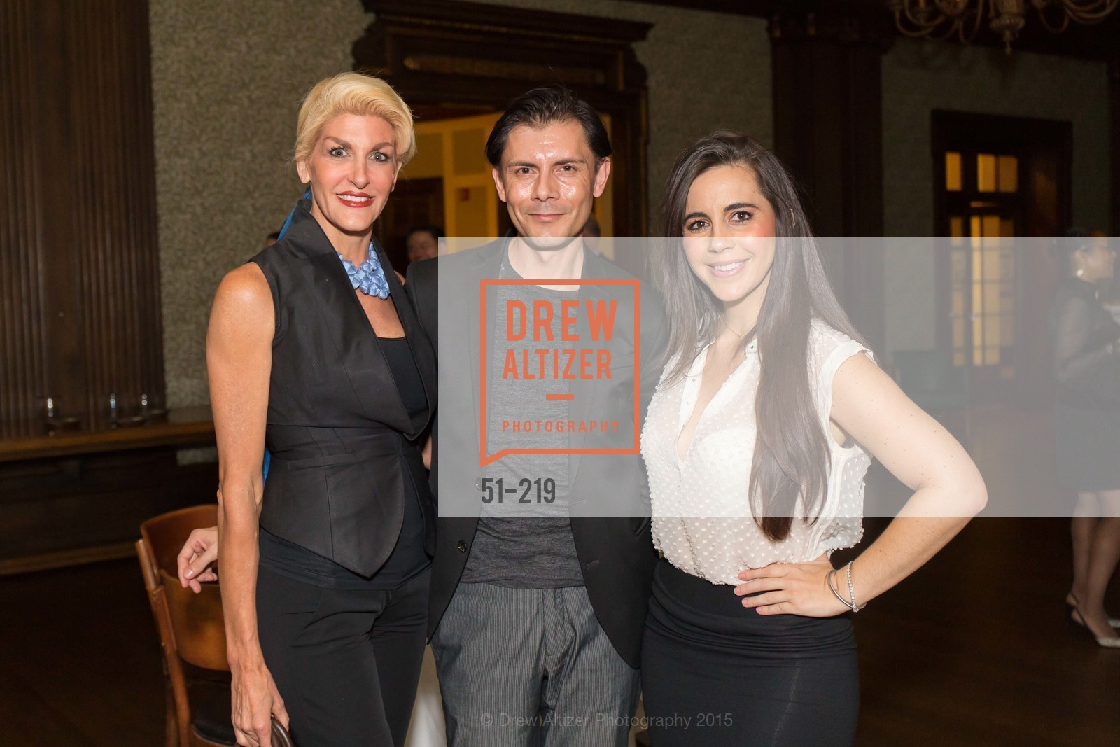 Karen Caldwell, Damion Matthews, Samantha DeBianchi, Champagne Reception & Screening of Million Dollar Listing San Francisco, University Club. 800 Powell St, August 5th, 2015,Drew Altizer, Drew Altizer Photography, full-service agency, private events, San Francisco photographer, photographer california