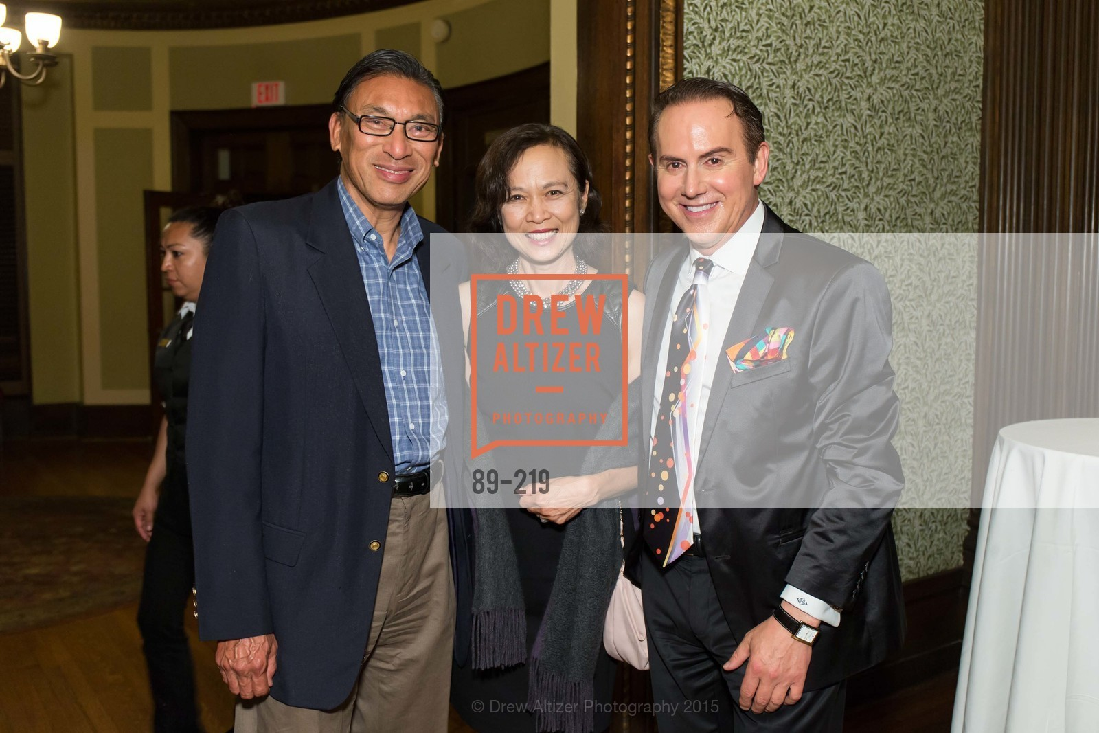 Leon Lee, Marion Lee, Joel Goodrich, Champagne Reception & Screening of Million Dollar Listing San Francisco, University Club. 800 Powell St, August 5th, 2015,Drew Altizer, Drew Altizer Photography, full-service agency, private events, San Francisco photographer, photographer california