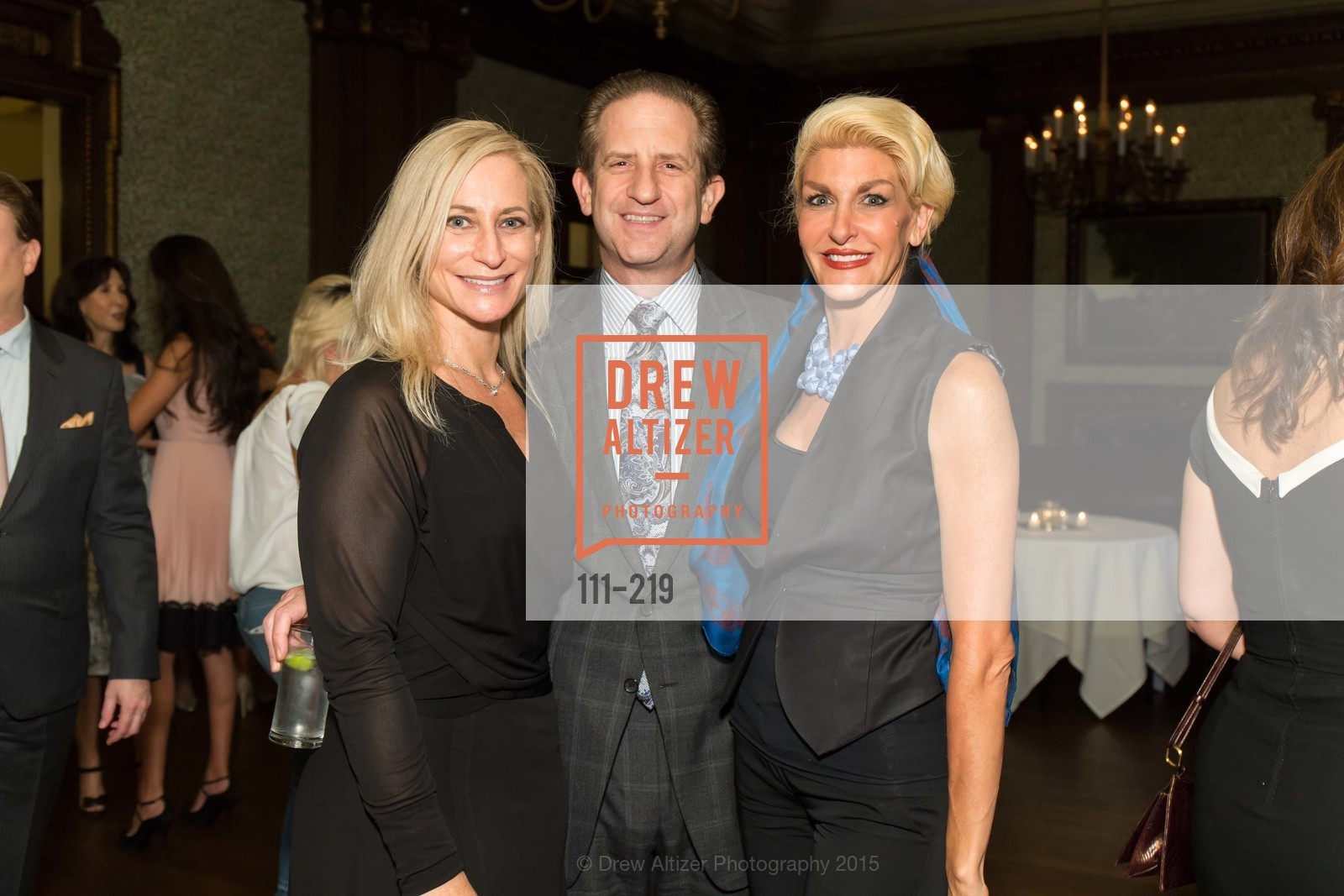 Joni Binder, Robert Shwarts, Karen Caldwell, Champagne Reception & Screening of Million Dollar Listing San Francisco, University Club. 800 Powell St, August 5th, 2015,Drew Altizer, Drew Altizer Photography, full-service agency, private events, San Francisco photographer, photographer california