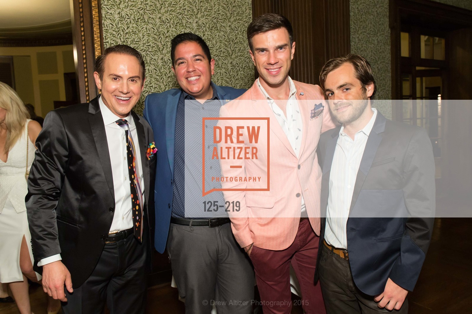 Joel Goodrich, Rafael Davis, Anzor Makharadze, Christopher Goff, Champagne Reception & Screening of Million Dollar Listing San Francisco, University Club. 800 Powell St, August 5th, 2015,Drew Altizer, Drew Altizer Photography, full-service agency, private events, San Francisco photographer, photographer california