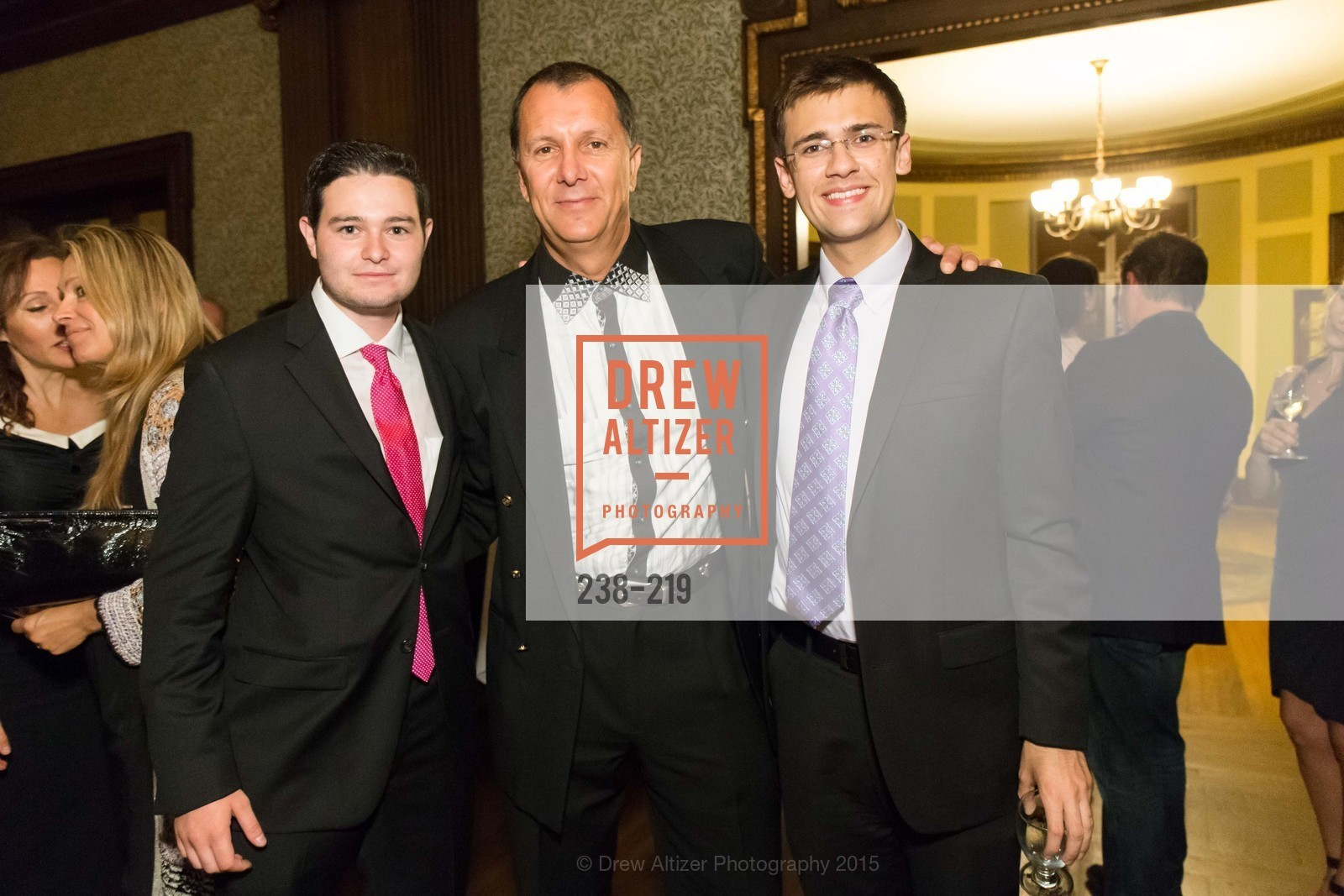 Pierre Laury, Patrick Renaus, Arro Hedrick Smith, Champagne Reception & Screening of Million Dollar Listing San Francisco, University Club. 800 Powell St, August 5th, 2015,Drew Altizer, Drew Altizer Photography, full-service agency, private events, San Francisco photographer, photographer california