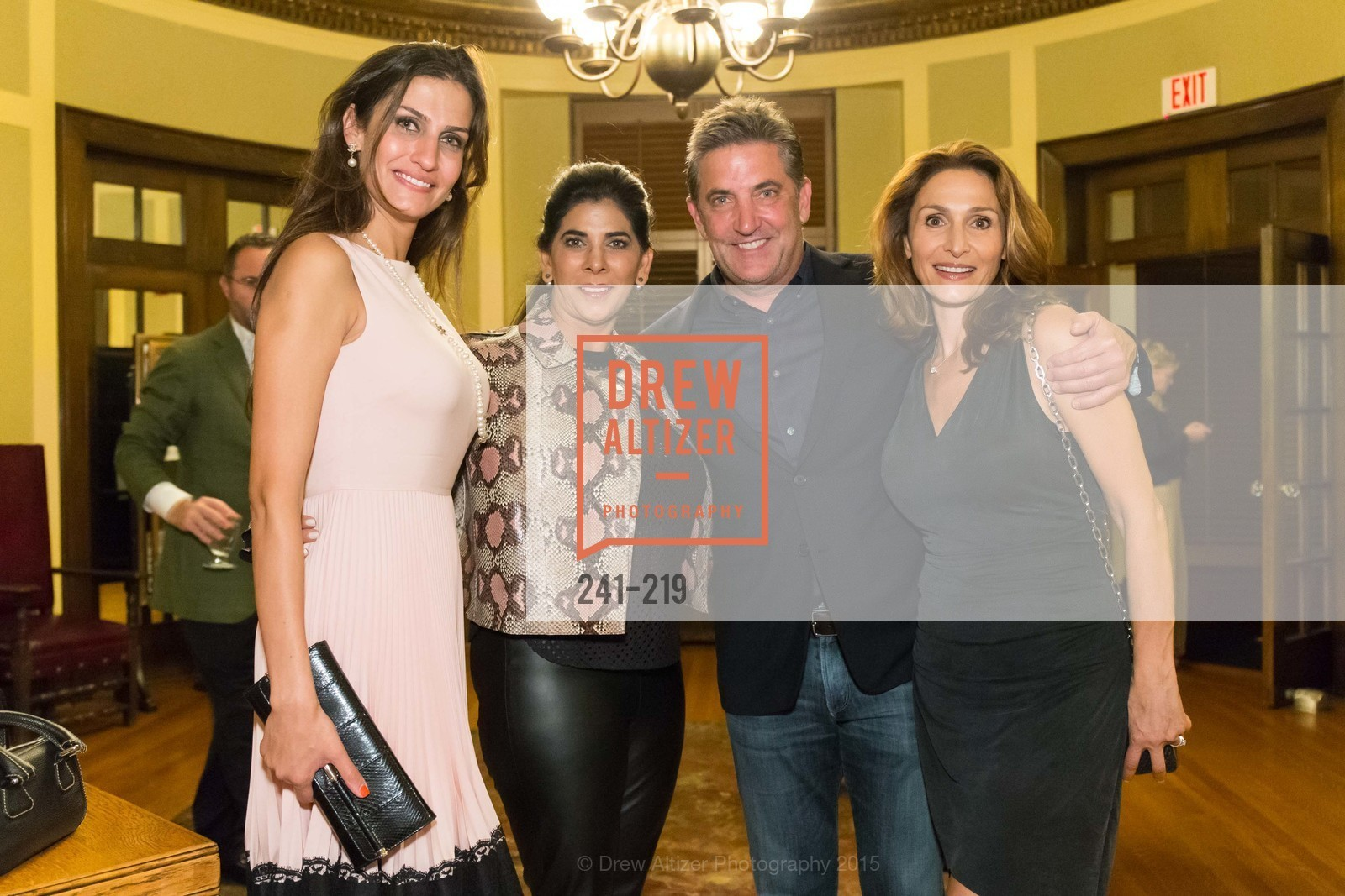 Leyla Alhosseini, Sujata Pherwani, Dennis Higgs, Sabrina Higgs, Champagne Reception & Screening of Million Dollar Listing San Francisco, University Club. 800 Powell St, August 5th, 2015,Drew Altizer, Drew Altizer Photography, full-service agency, private events, San Francisco photographer, photographer california