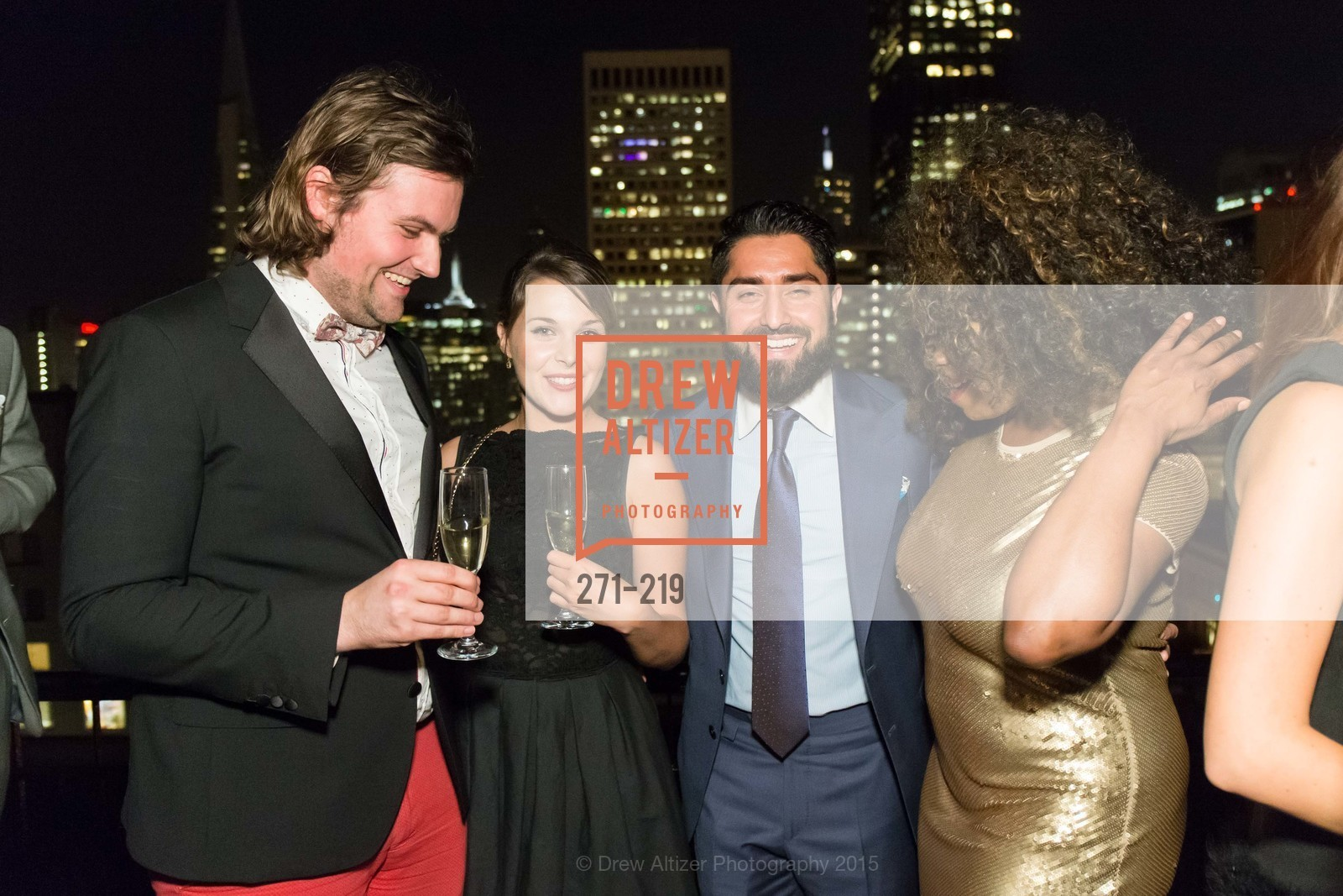 Romain Colignon, Laura Brossard, Roh Habibi, Chaundra Woods, Champagne Reception & Screening of Million Dollar Listing San Francisco, University Club. 800 Powell St, August 5th, 2015,Drew Altizer, Drew Altizer Photography, full-service agency, private events, San Francisco photographer, photographer california
