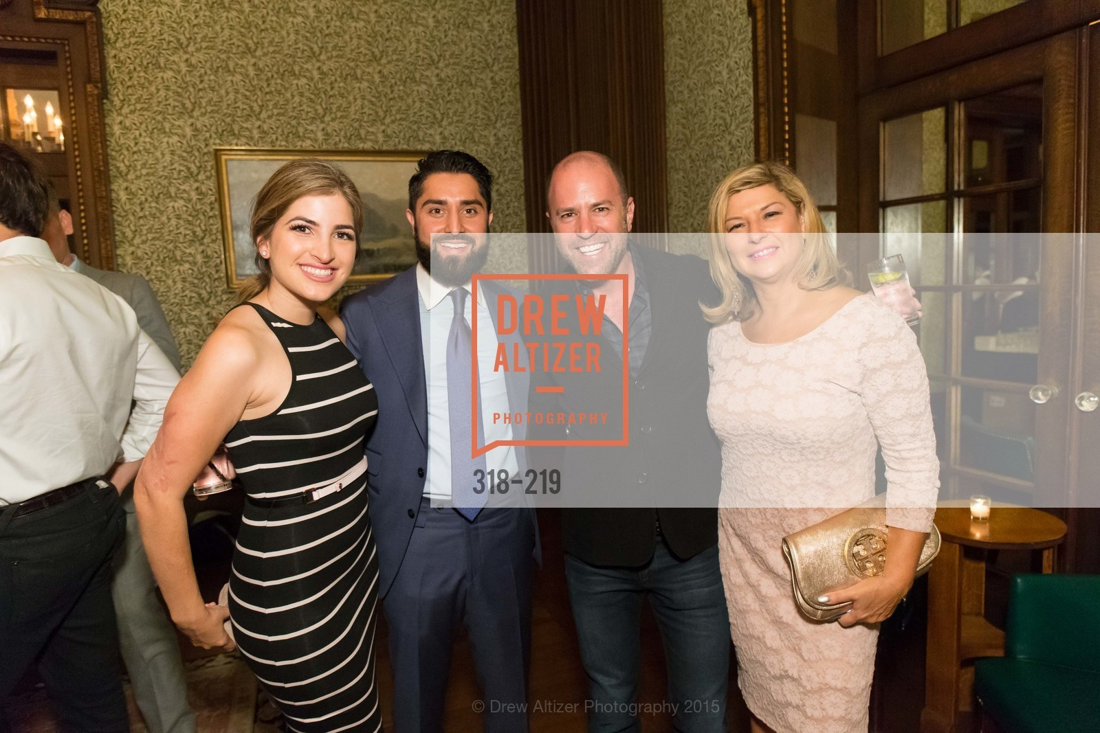 Shugufa Habibi, Roh Habibi, Scott Siegel, Jaackie Teplitzky, Champagne Reception & Screening of Million Dollar Listing San Francisco, University Club. 800 Powell St, August 5th, 2015