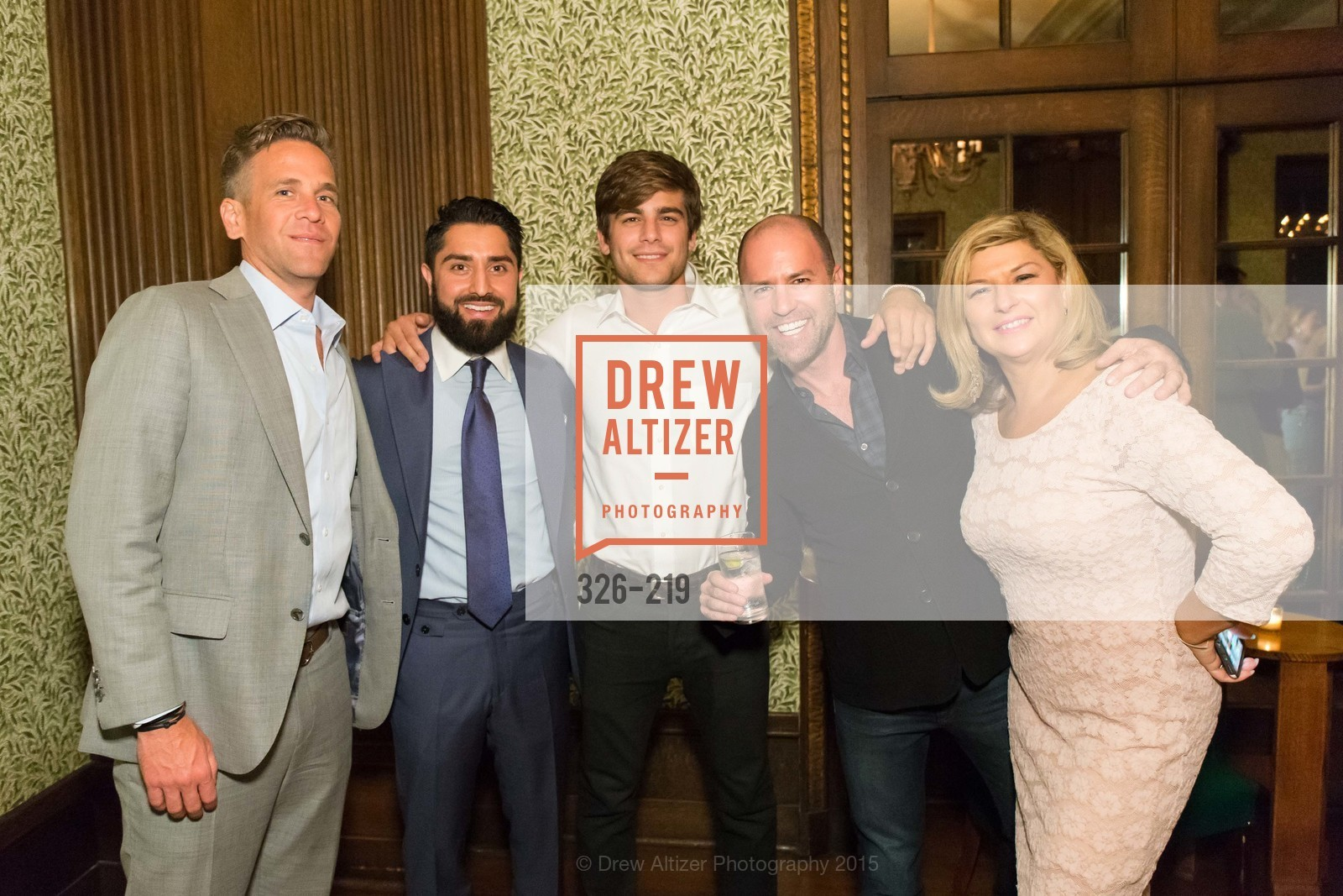 Roh Habibi, Harris Habibi, Scott Siegel, Jackie Telitzky, Champagne Reception & Screening of Million Dollar Listing San Francisco, University Club. 800 Powell St, August 5th, 2015,Drew Altizer, Drew Altizer Photography, full-service agency, private events, San Francisco photographer, photographer california