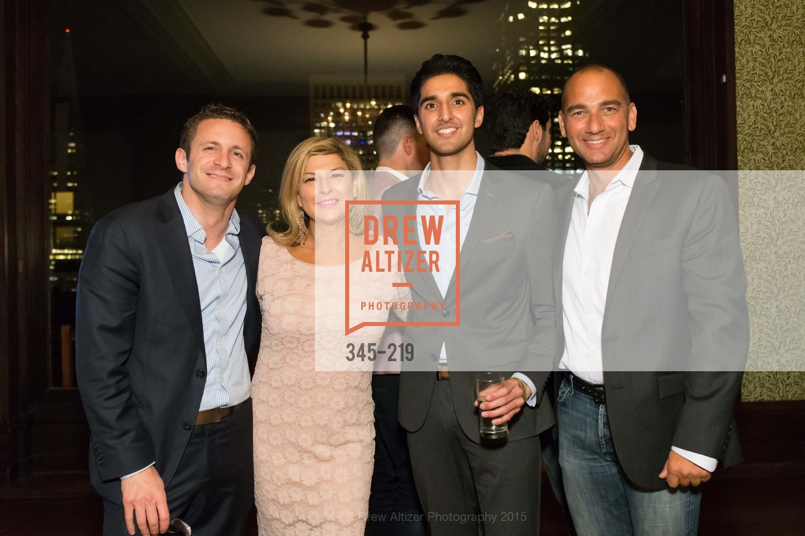 Michael Altneu, Jackie Teplitzky, Ramin Habibi, Jim Jacobson, Champagne Reception & Screening of Million Dollar Listing San Francisco, University Club. 800 Powell St, August 5th, 2015,Drew Altizer, Drew Altizer Photography, full-service agency, private events, San Francisco photographer, photographer california