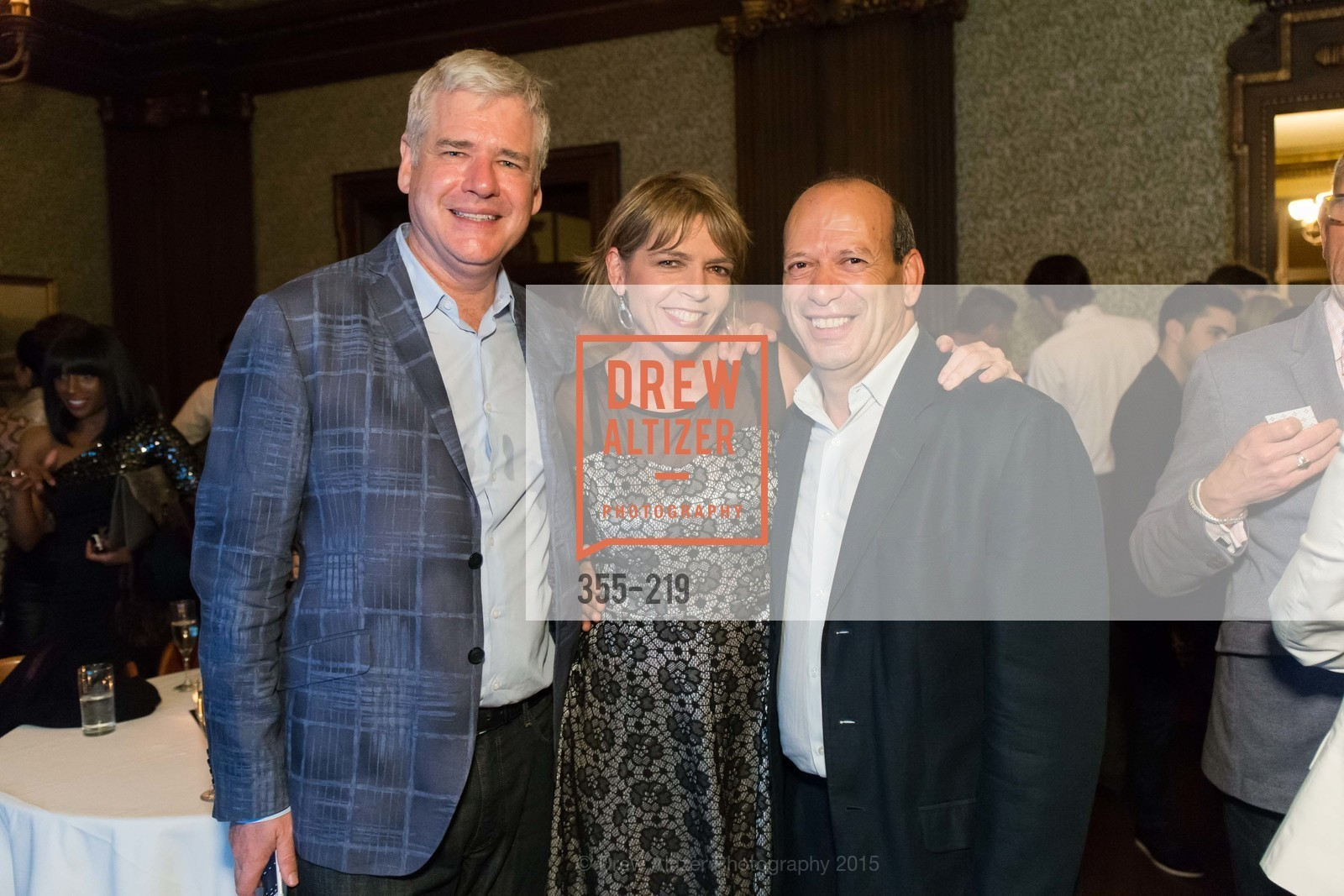 David Costello, Beth Schntizer, Nourredine Azouaou, Champagne Reception & Screening of Million Dollar Listing San Francisco, University Club. 800 Powell St, August 5th, 2015,Drew Altizer, Drew Altizer Photography, full-service agency, private events, San Francisco photographer, photographer california
