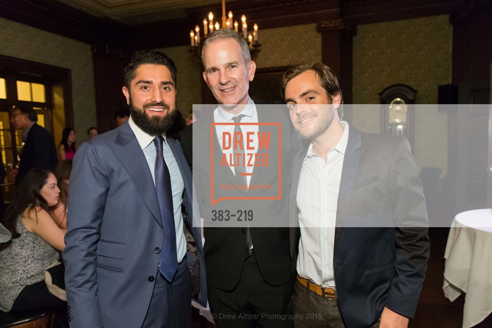 Roh Habibi, Jeffrey Gibson, Christopher Goff, Champagne Reception & Screening of Million Dollar Listing San Francisco, University Club. 800 Powell St, August 5th, 2015,Drew Altizer, Drew Altizer Photography, full-service agency, private events, San Francisco photographer, photographer california