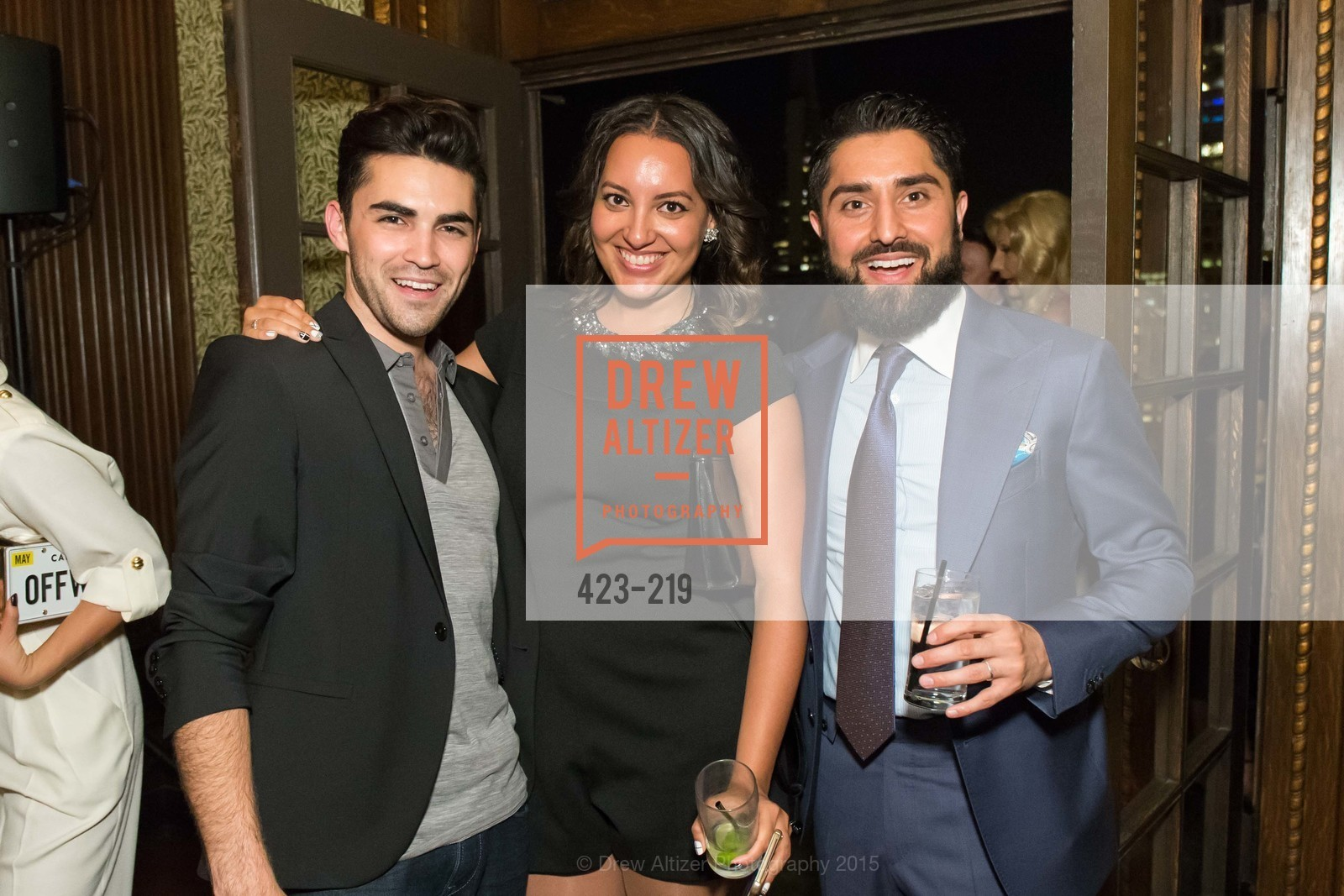 Cameron Paul, Rachel Rawls, Roh Habibi, Champagne Reception & Screening of Million Dollar Listing San Francisco, University Club. 800 Powell St, August 5th, 2015,Drew Altizer, Drew Altizer Photography, full-service agency, private events, San Francisco photographer, photographer california