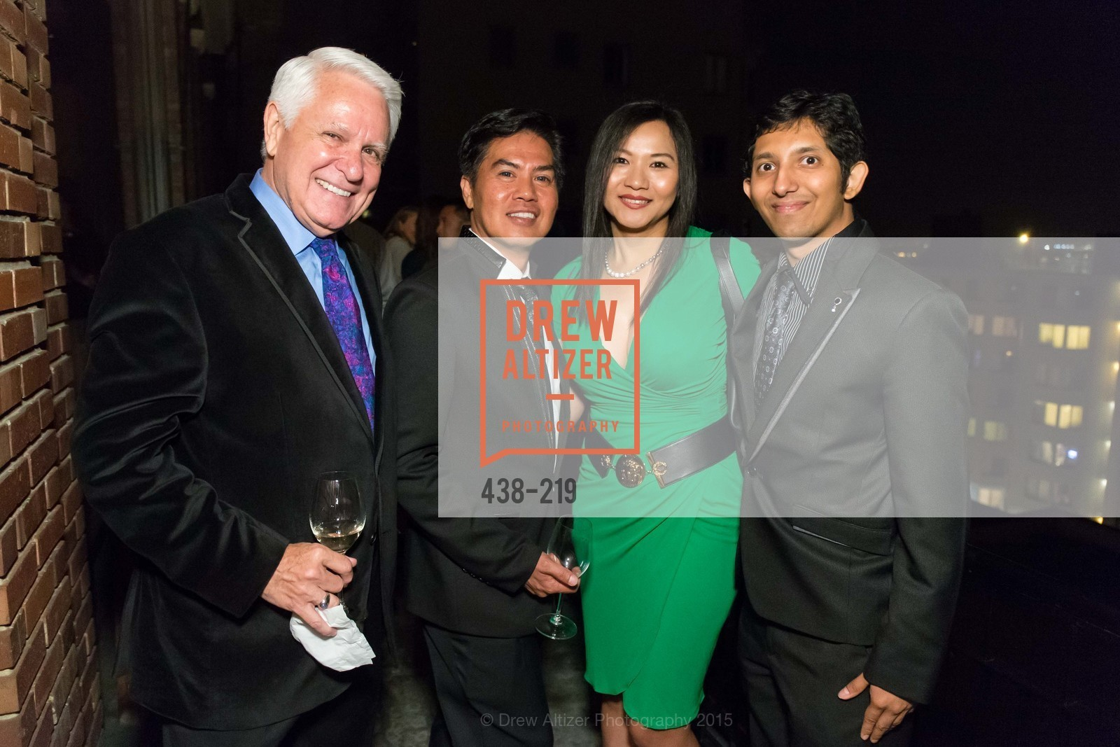 Andrew Lees, Bong Lees, Jane Lee, Aasim Saied, Champagne Reception & Screening of Million Dollar Listing San Francisco, University Club. 800 Powell St, August 5th, 2015