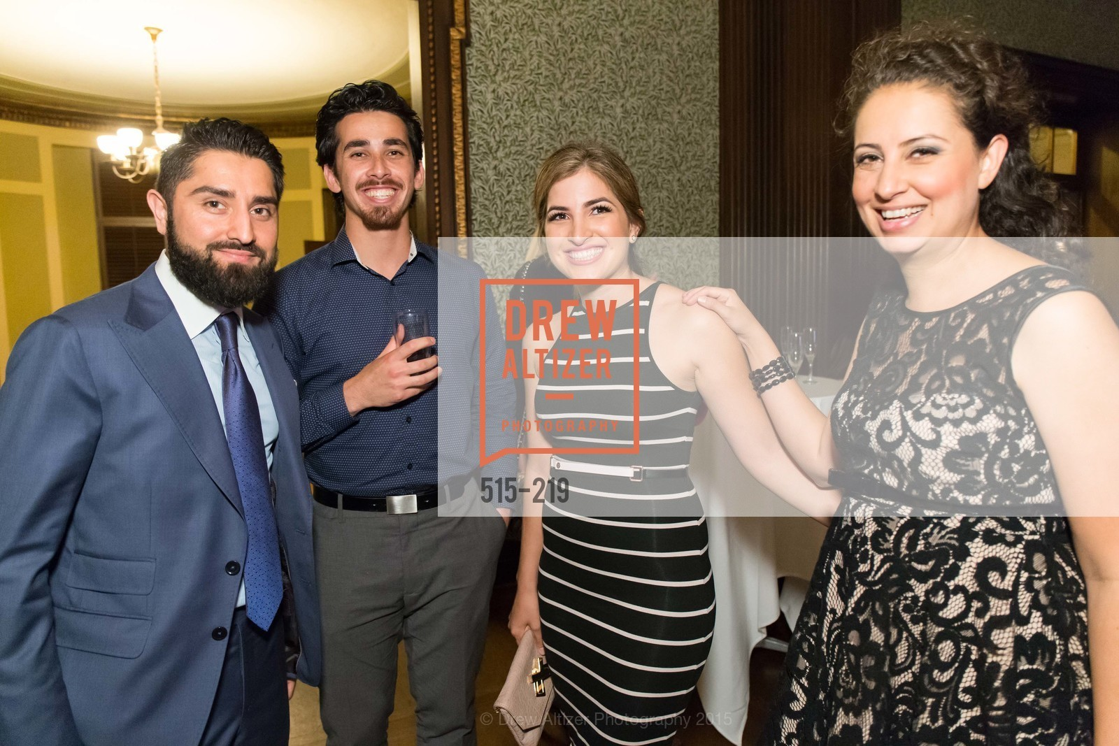 Roh Habibi, Omar Kohgadai, Shugufa Habibi, Fatima Lavour, Champagne Reception & Screening of Million Dollar Listing San Francisco, University Club. 800 Powell St, August 5th, 2015,Drew Altizer, Drew Altizer Photography, full-service event agency, private events, San Francisco photographer, photographer California