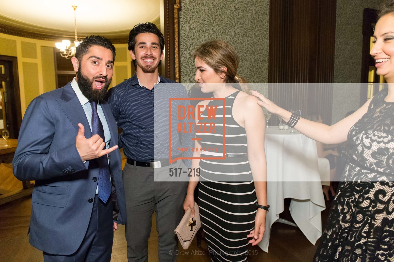 Roh Habibi, Omar Kohgadai, Shugufa Habibi, Fatima Lavour, Champagne Reception & Screening of Million Dollar Listing San Francisco, University Club. 800 Powell St, August 5th, 2015,Drew Altizer, Drew Altizer Photography, full-service agency, private events, San Francisco photographer, photographer california