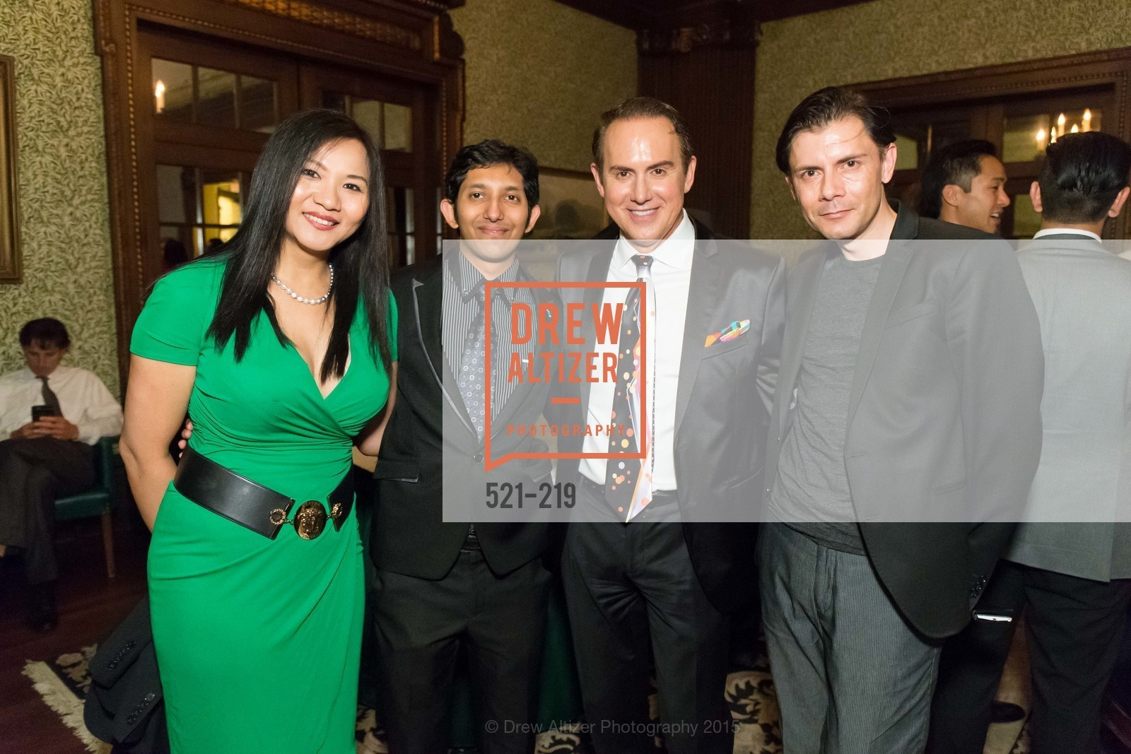 Jane Lee, Aasim Saied, Joel Goodrich, Damion Matthews, Champagne Reception & Screening of Million Dollar Listing San Francisco, University Club. 800 Powell St, August 5th, 2015,Drew Altizer, Drew Altizer Photography, full-service agency, private events, San Francisco photographer, photographer california