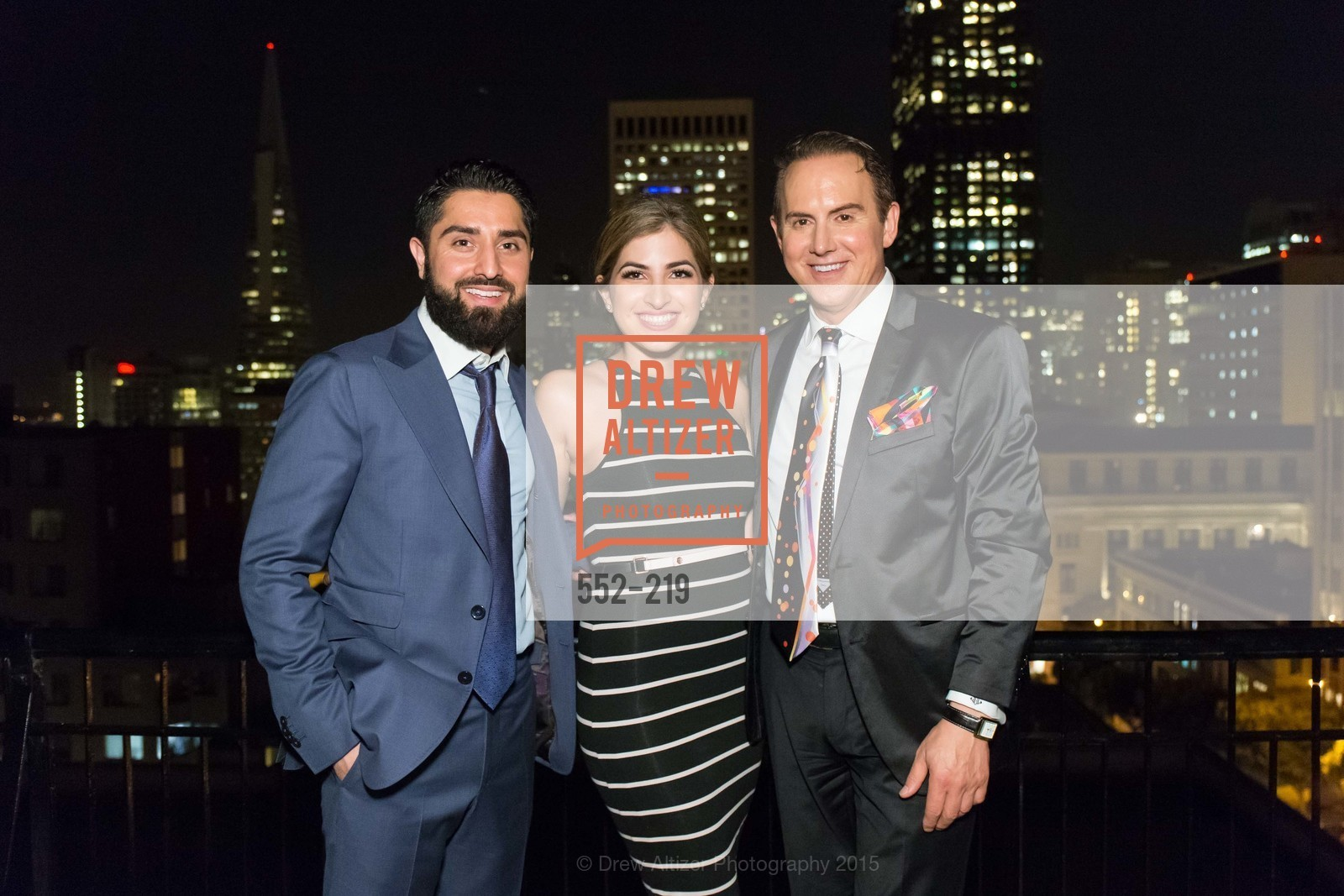 Roh Habibi, Shugufa Habibi, Joel Goodrich, Champagne Reception & Screening of Million Dollar Listing San Francisco, University Club. 800 Powell St, August 5th, 2015,Drew Altizer, Drew Altizer Photography, full-service agency, private events, San Francisco photographer, photographer california