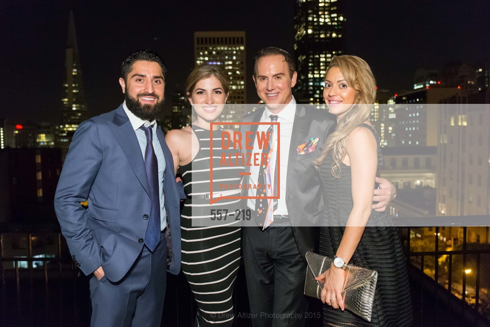 Roh Habibi, Shugufa Habibi, Joel Goodrich, Jessica Smith, Champagne Reception & Screening of Million Dollar Listing San Francisco, University Club. 800 Powell St, August 5th, 2015,Drew Altizer, Drew Altizer Photography, full-service agency, private events, San Francisco photographer, photographer california