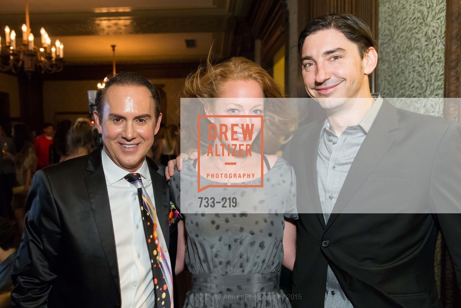 Joel Goodrich, Gina Klein, Douglas Dalton, Champagne Reception & Screening of Million Dollar Listing San Francisco, University Club. 800 Powell St, August 5th, 2015,Drew Altizer, Drew Altizer Photography, full-service agency, private events, San Francisco photographer, photographer california