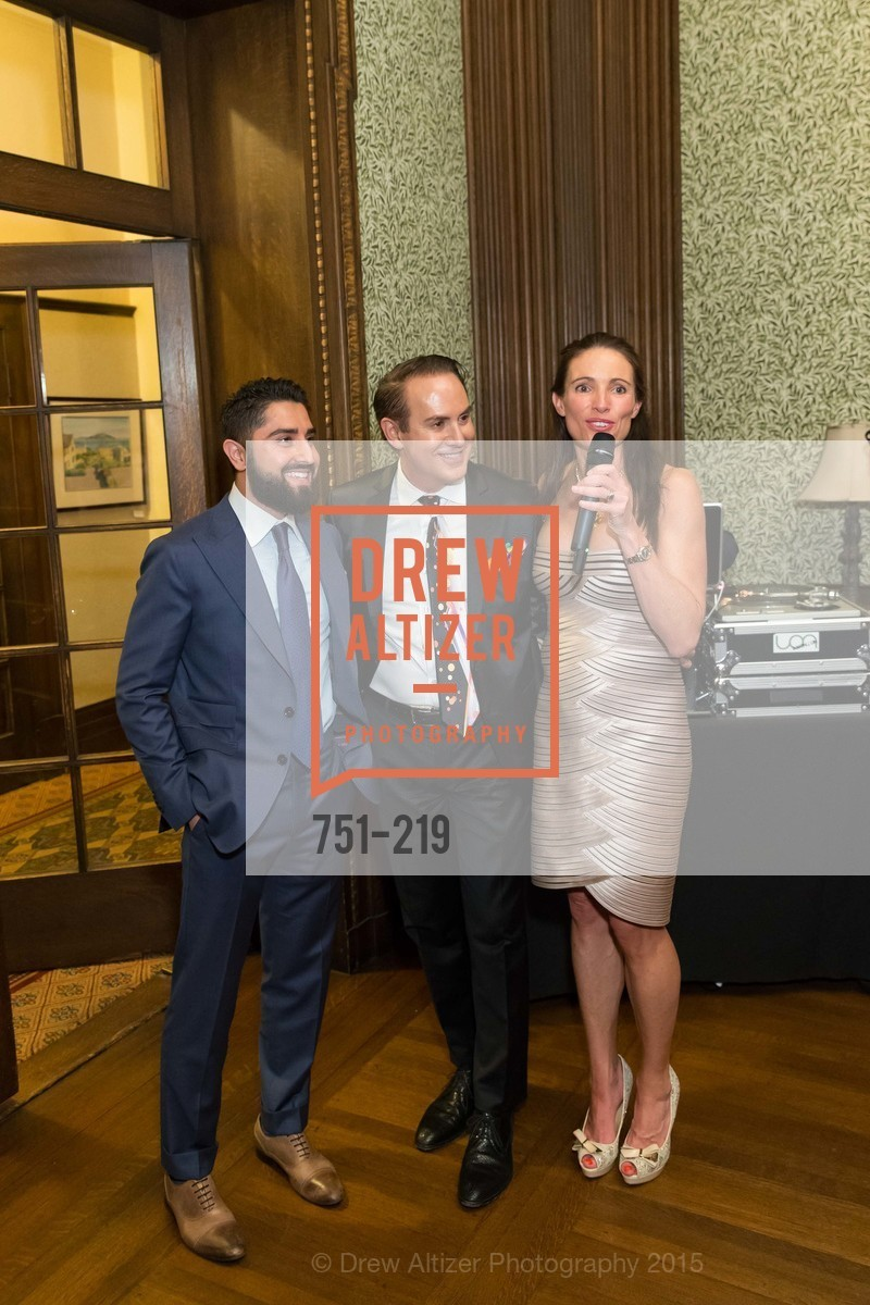 Ron Habibi, Joel Goodrich, Anne Laury, Champagne Reception & Screening of Million Dollar Listing San Francisco, University Club. 800 Powell St, August 5th, 2015,Drew Altizer, Drew Altizer Photography, full-service event agency, private events, San Francisco photographer, photographer California