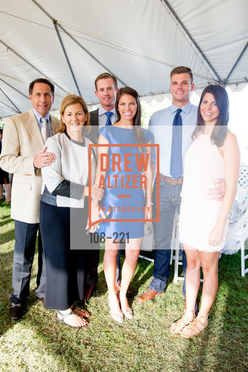 Jeff Hiller, Mary Hiller, Glenn Rouland, Kristen Hiller, Jeff Churchman, Constance Hiller, Menlo Charity Horse Show Gala, Menlo Circus Club. 190 Park Lane, August 7th, 2015,Drew Altizer, Drew Altizer Photography, full-service agency, private events, San Francisco photographer, photographer california