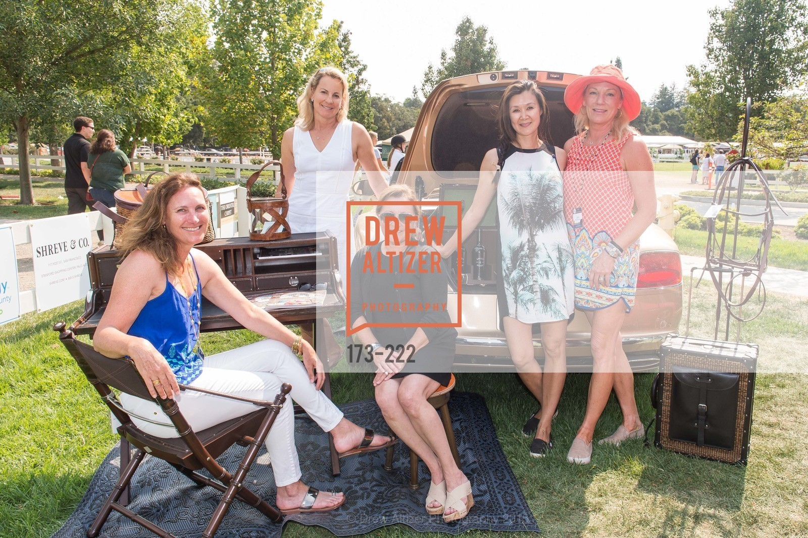 Suzanne Rischman, Catherine Harvey, Cerri Guthrie, Lavinia Branden, Jen McDonald, Bentley Tailgate Party Benefiting the Menlo Charity Horse Show, Menlo Circus Club, August 8th, 2015,Drew Altizer, Drew Altizer Photography, full-service agency, private events, San Francisco photographer, photographer california