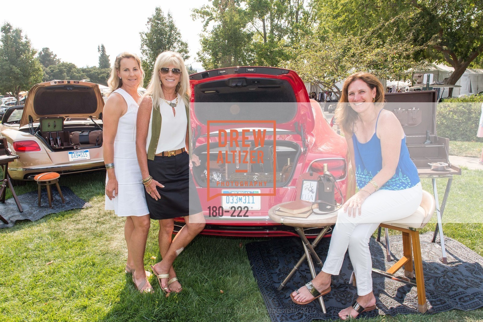 Catherine Harvey, Susan Martin, Suzanne Rischman, Bentley Tailgate Party Benefiting the Menlo Charity Horse Show, Menlo Circus Club, August 8th, 2015,Drew Altizer, Drew Altizer Photography, full-service event agency, private events, San Francisco photographer, photographer California