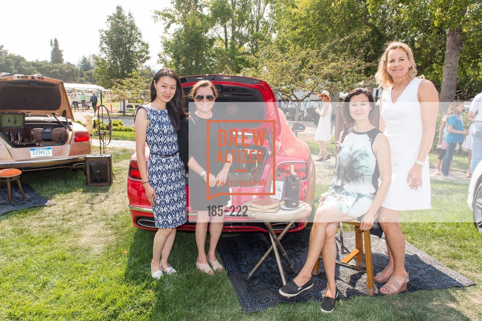 Melissa Lu, Cerri Guthrie, Lavinia Branden, Catherine Harvey, Bentley Tailgate Party Benefiting the Menlo Charity Horse Show, Menlo Circus Club, August 8th, 2015,Drew Altizer, Drew Altizer Photography, full-service agency, private events, San Francisco photographer, photographer california