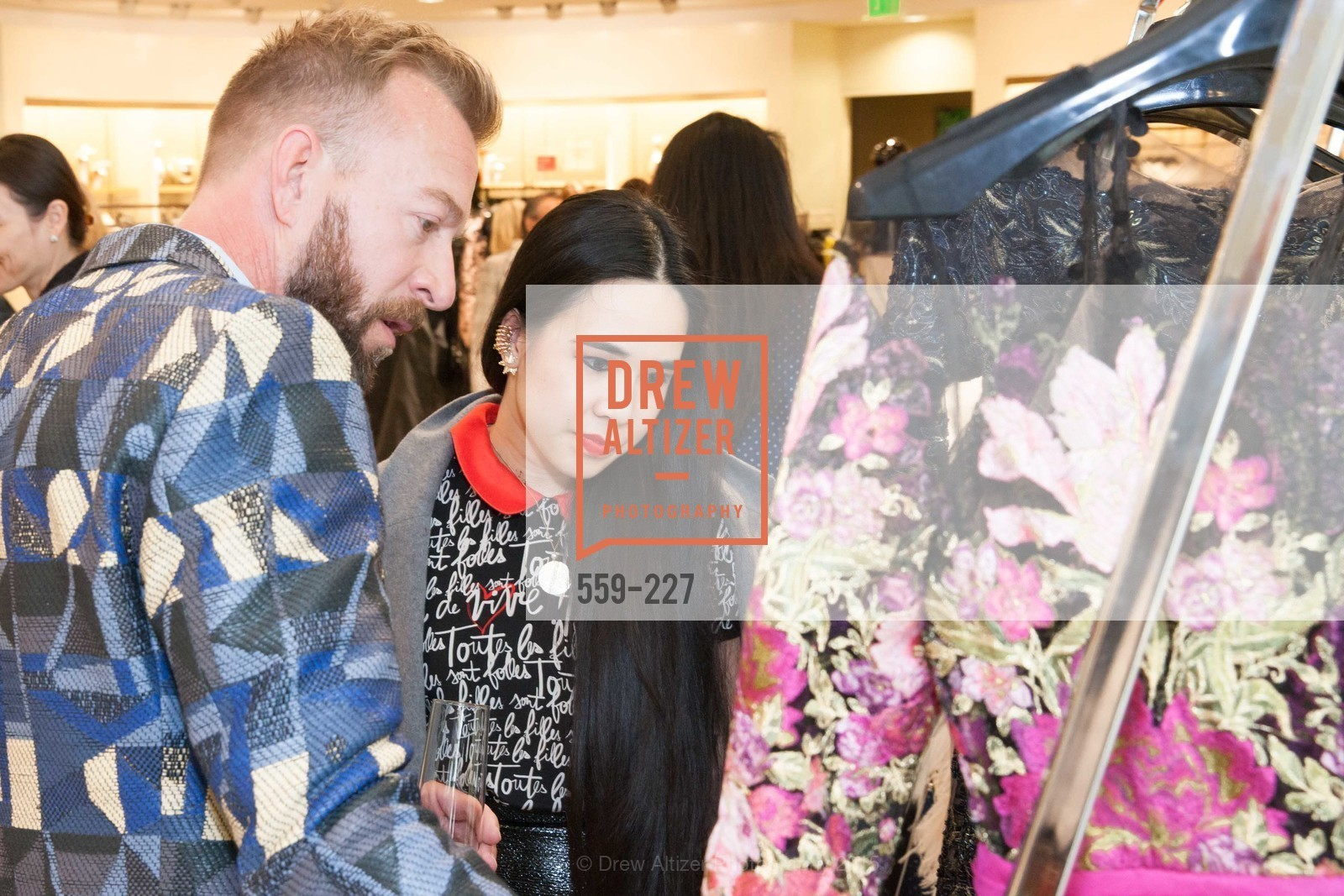 Michael Purdy, Khuyen Do, Keren Craig Personal Appearance for Marchesa Fall Trunk Show, Neiman Marcus, May 7th, 2015,Drew Altizer, Drew Altizer Photography, full-service agency, private events, San Francisco photographer, photographer california