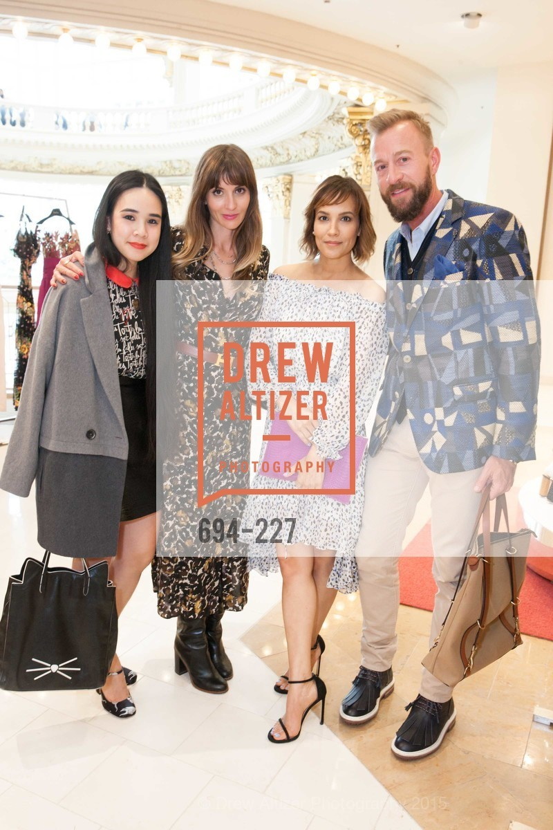 Khuyen Do, Mary Gonsalves Kinney, Lora DuBain, Michael Purdy, Keren Craig Personal Appearance for Marchesa Fall Trunk Show, Neiman Marcus, May 7th, 2015,Drew Altizer, Drew Altizer Photography, full-service agency, private events, San Francisco photographer, photographer california