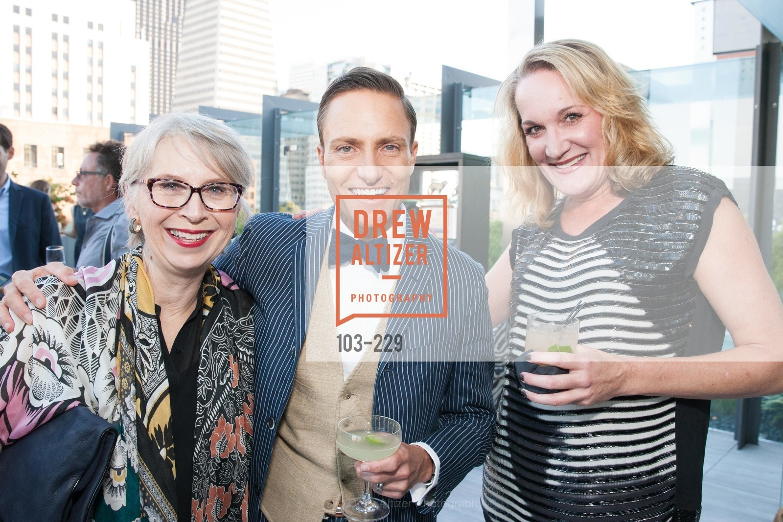 Sandra Reichman, Ken Fulk, Susie Johnson, Ken Fulk Collection Arrival Party At The Battery, Battery. 717 Battery St, August 12th, 2015,Drew Altizer, Drew Altizer Photography, full-service agency, private events, San Francisco photographer, photographer california