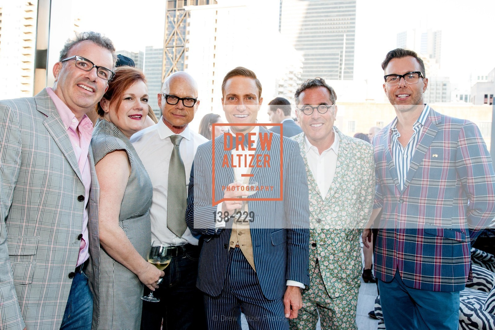 Mitchell Benjamin, Jennifer Riaser, Kevin Sessums, Ken Fulk, Ricky Serbin, Brian Anderson, Ken Fulk Collection Arrival Party At The Battery, Battery. 717 Battery St, August 12th, 2015,Drew Altizer, Drew Altizer Photography, full-service agency, private events, San Francisco photographer, photographer california