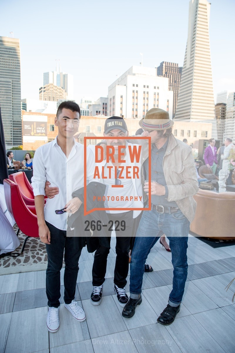 Thomas Liu, Kourosh Shah, David Bina, Ken Fulk Collection Arrival Party At The Battery, Battery. 717 Battery St, August 12th, 2015,Drew Altizer, Drew Altizer Photography, full-service agency, private events, San Francisco photographer, photographer california