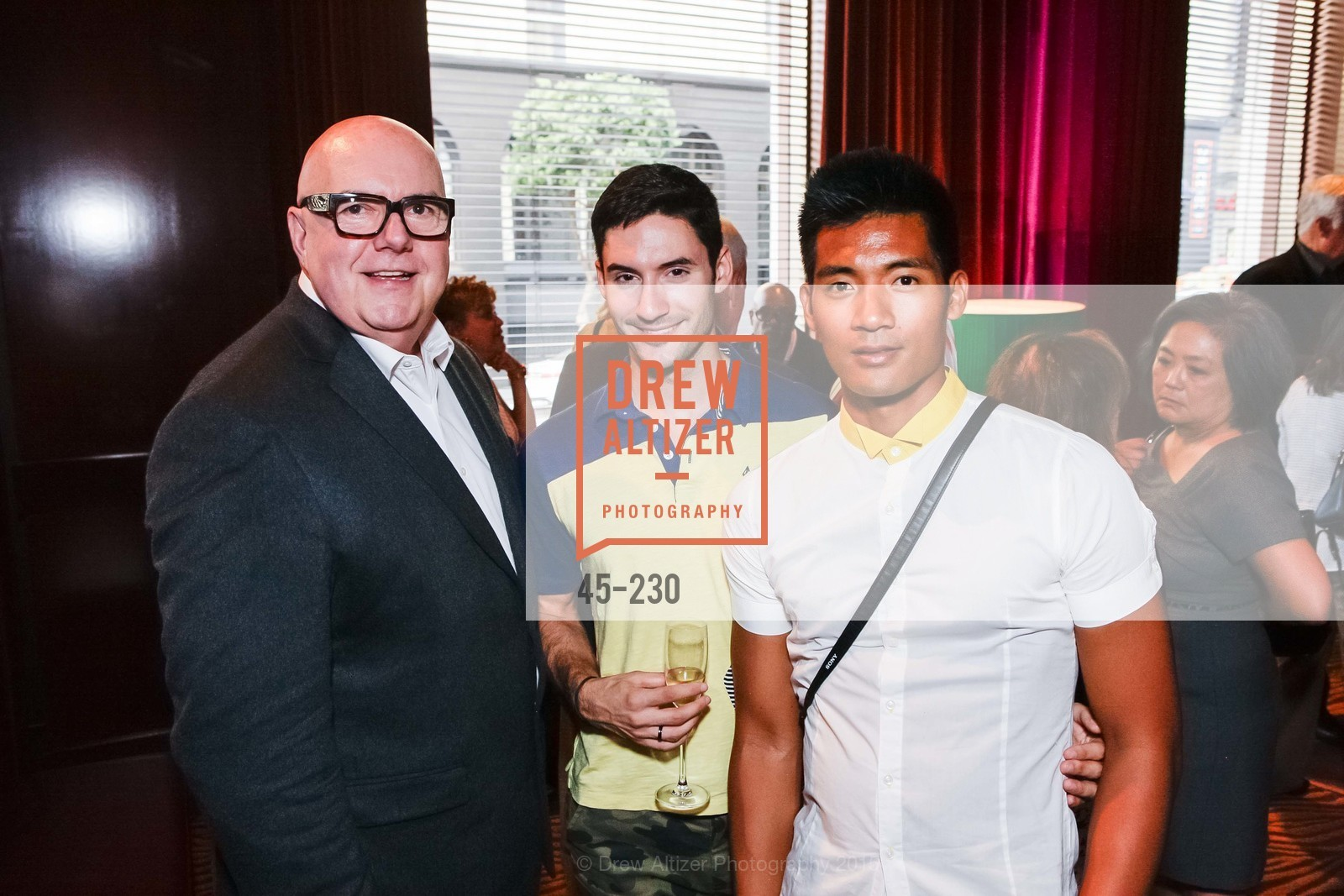 Robert Atkinson, Nicholas Bettinger, Jonathan Mangosing, This Old Bag San Francisco Preview Party, Clift, Velvet Room. 495 Geary St, August 13th, 2015,Drew Altizer, Drew Altizer Photography, full-service agency, private events, San Francisco photographer, photographer california