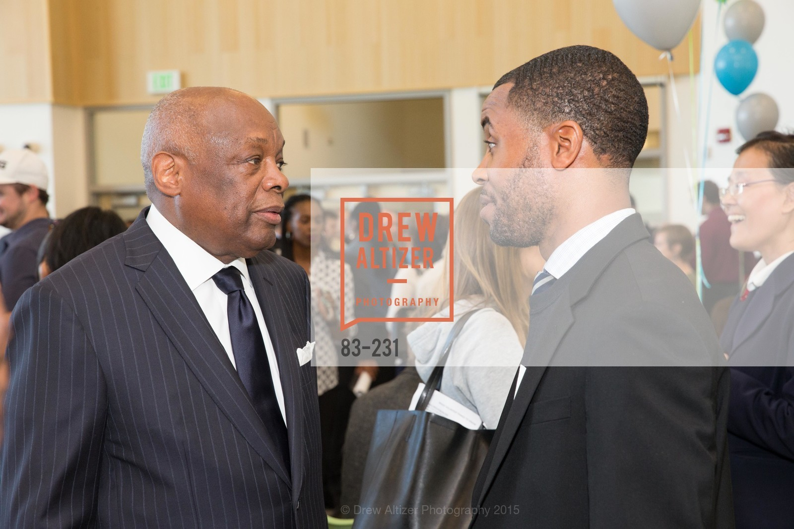 Willie Brown, Demetrius Hobson, Willie L. Brown Middle School Ribbon Cutting Ceremony, Willie L. Brown Middle School. 2055 Silver Avenue, August 13th, 2015