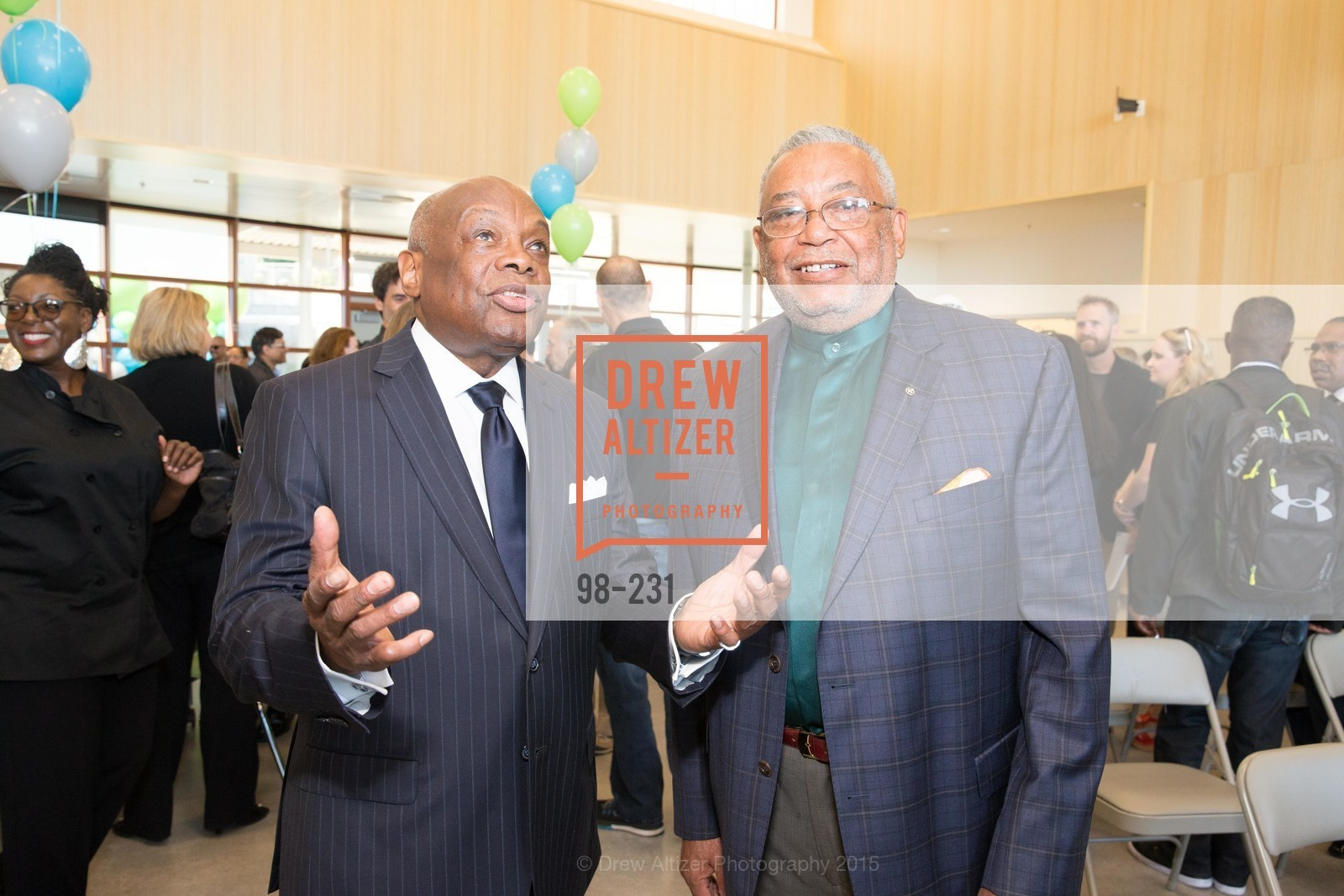 Willie Brown, Louis Garett, Willie L. Brown Middle School Ribbon Cutting Ceremony, Willie L. Brown Middle School. 2055 Silver Avenue, August 13th, 2015,Drew Altizer, Drew Altizer Photography, full-service agency, private events, San Francisco photographer, photographer california