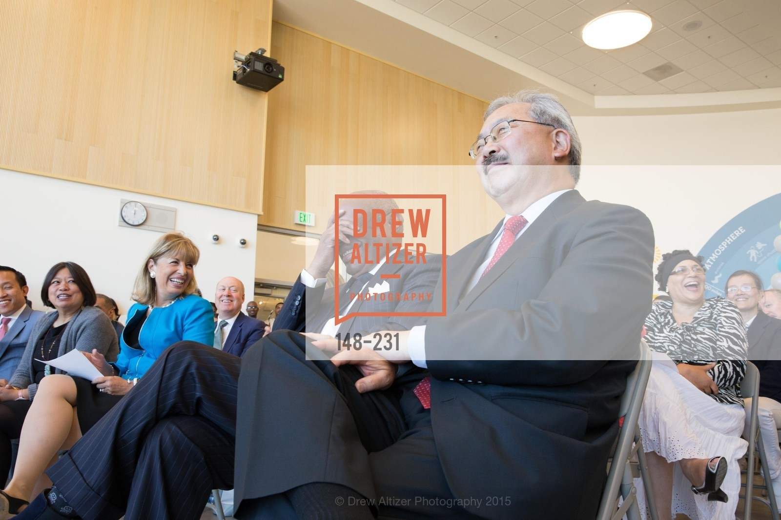 Jackie Speier, Willie Brown, Ed Lee, Willie L. Brown Middle School Ribbon Cutting Ceremony, Willie L. Brown Middle School. 2055 Silver Avenue, August 13th, 2015,Drew Altizer, Drew Altizer Photography, full-service agency, private events, San Francisco photographer, photographer california