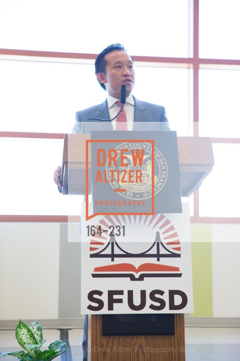 David Chu, Willie L. Brown Middle School Ribbon Cutting Ceremony, Willie L. Brown Middle School. 2055 Silver Avenue, August 13th, 2015,Drew Altizer, Drew Altizer Photography, full-service agency, private events, San Francisco photographer, photographer california