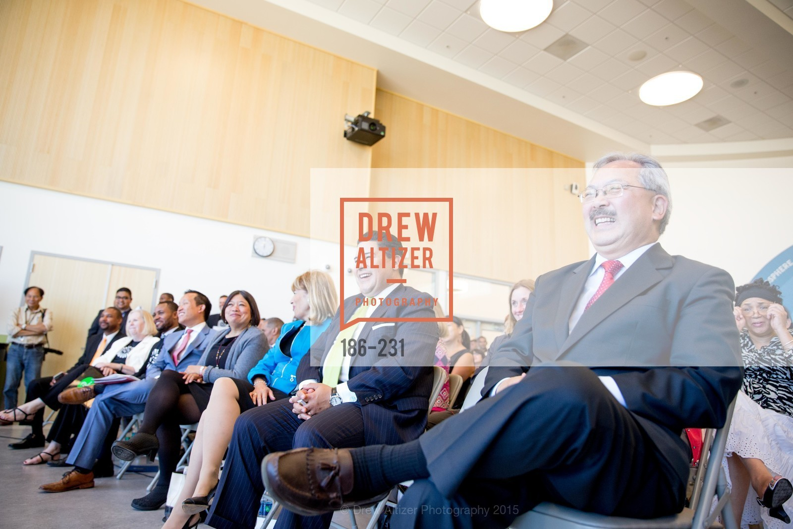 Richard Carranza, Ed Lee, Willie L. Brown Middle School Ribbon Cutting Ceremony, Willie L. Brown Middle School. 2055 Silver Avenue, August 13th, 2015,Drew Altizer, Drew Altizer Photography, full-service agency, private events, San Francisco photographer, photographer california