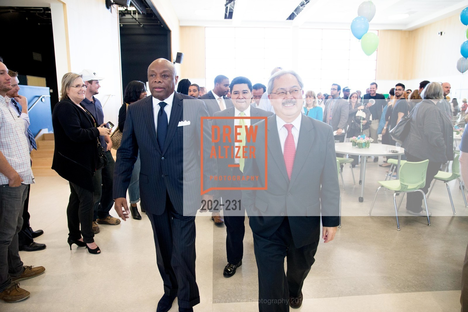 Willie Brown, Ed Lee, Willie L. Brown Middle School Ribbon Cutting Ceremony, Willie L. Brown Middle School. 2055 Silver Avenue, August 13th, 2015,Drew Altizer, Drew Altizer Photography, full-service event agency, private events, San Francisco photographer, photographer California