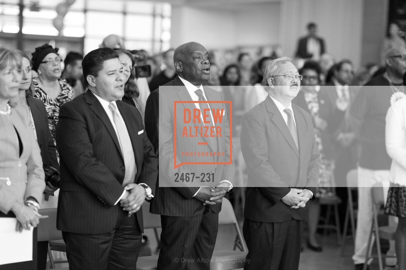 Richard Carranza, Willie Brown, Ed Lee, Willie L. Brown Middle School Ribbon Cutting Ceremony, Willie L. Brown Middle School. 2055 Silver Avenue, August 13th, 2015,Drew Altizer, Drew Altizer Photography, full-service event agency, private events, San Francisco photographer, photographer California