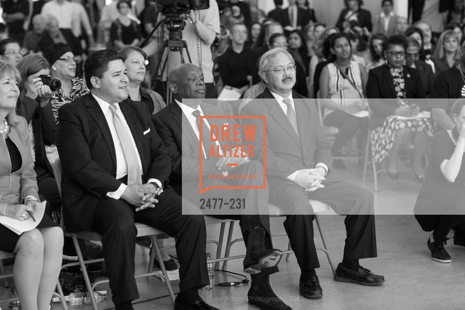 Richard Carranza, Willie Brown, Ed Lee, Photo #2477-231