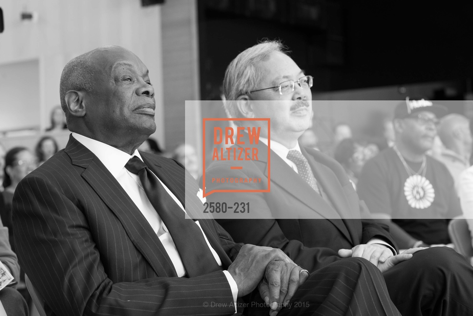 Willie Brown, Ed Lee, Willie L. Brown Middle School Ribbon Cutting Ceremony, Willie L. Brown Middle School. 2055 Silver Avenue, August 13th, 2015,Drew Altizer, Drew Altizer Photography, full-service agency, private events, San Francisco photographer, photographer california