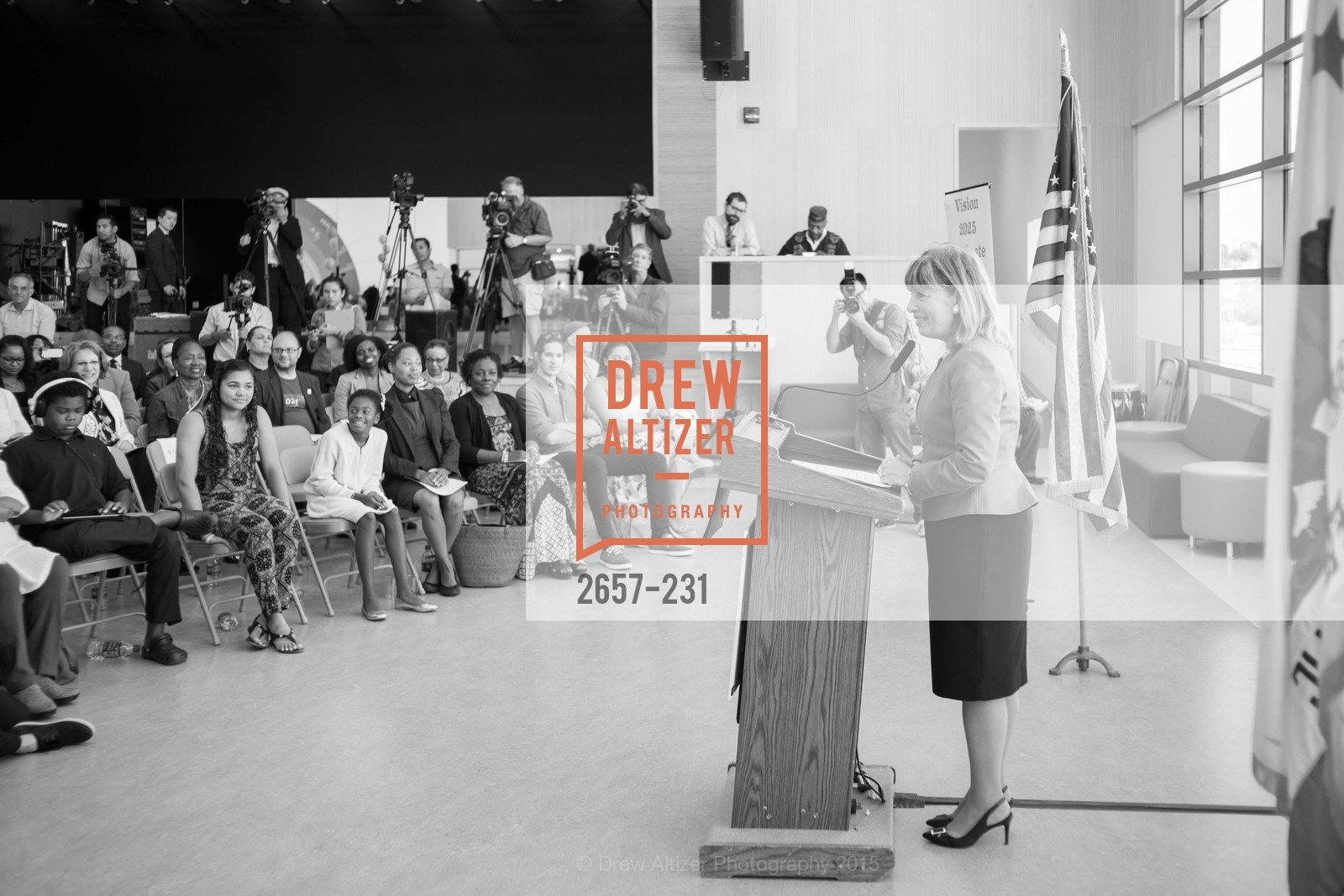 Jackie Speier, Willie L. Brown Middle School Ribbon Cutting Ceremony, Willie L. Brown Middle School. 2055 Silver Avenue, August 13th, 2015,Drew Altizer, Drew Altizer Photography, full-service event agency, private events, San Francisco photographer, photographer California