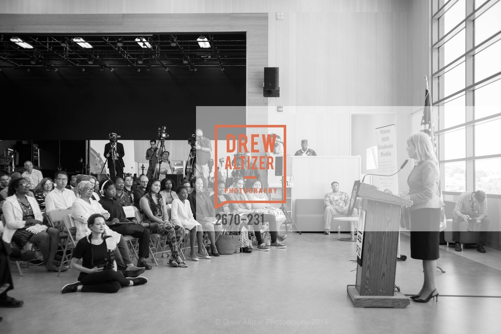 Jackie Speier, Willie L. Brown Middle School Ribbon Cutting Ceremony, Willie L. Brown Middle School. 2055 Silver Avenue, August 13th, 2015,Drew Altizer, Drew Altizer Photography, full-service agency, private events, San Francisco photographer, photographer california
