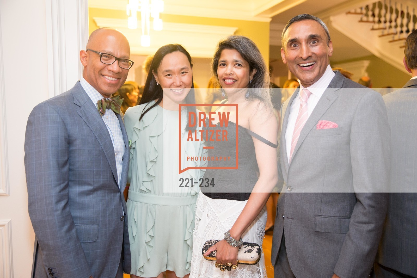 Ken McNeely, Carolyn Chang, Deepa Pakianathan, Inder Dhillon, San Francisco Opera Ball 2015 Patron Party, Private Residence, August 19th, 2015,Drew Altizer, Drew Altizer Photography, full-service event agency, private events, San Francisco photographer, photographer California